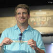 Mike Kachan with his gold bracelet from Event #56: $1,000 No-Limit Hold'em