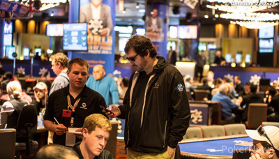 Phil Hellmuth and PokerNews' Chad Holloway