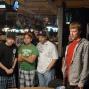 Derek Raymond and friends await the final river card