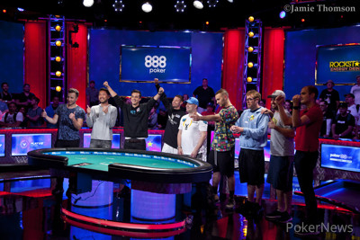 the 2018 world series of poker main event final table