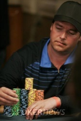 Chip leader del Day 1c Henning Granstad