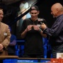 Martin Klaser admires his first WSOP braceelt