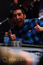 Chip leader Dean Blatt is all smiles