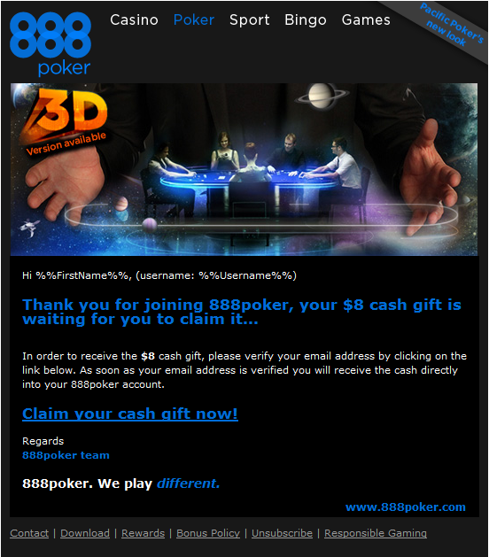how to get free money on 888 poker