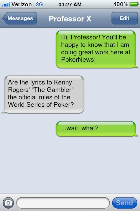 Poker related puns