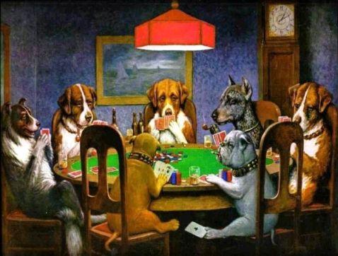 peinture 39 dogs playing poker 39 ic ne de la culture pop pokernews. Black Bedroom Furniture Sets. Home Design Ideas