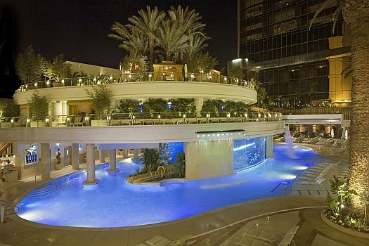 """""""The Tank,"""" the luxurious indoor/outdoor pool setting at the Golden Nugget, hosts the evening's festivities"""