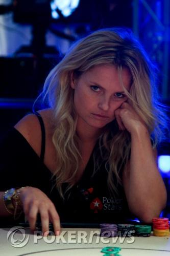 Fatima Moreiro de Melo tijdens de European Poker Tour in London