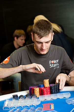 Chipleader James Keys - foto PokerStars Blog