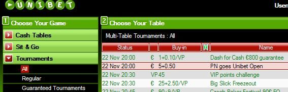 Satellite tickets to the next Unibet Open!