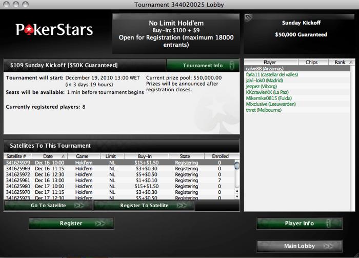 Novo Torneio na PokerStars - Sunday Kickoff 101