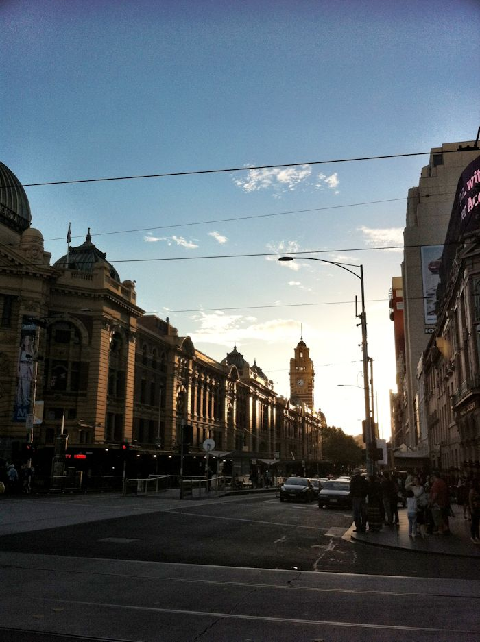 Flinders Street Station in Melbourne.