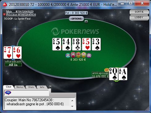 SCOOP 2012 Event #10-H NLHE 6-Max 200.000e garantis