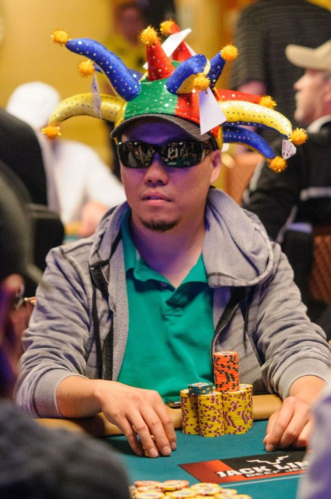 Kennii Nguyen and his lucky jester hat