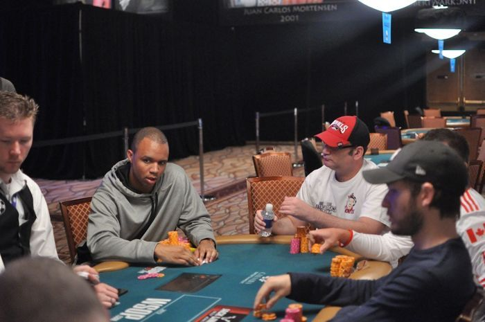 Phil Ivey, Mike Matusow, and Joe Cassidy