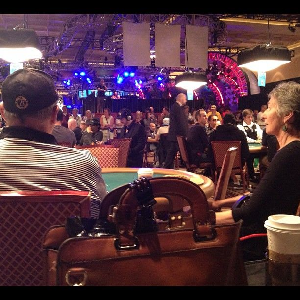 Mom and Pop Hellmuth on the Rail