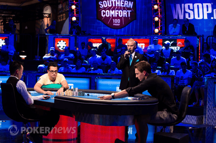 Antonio Esfandiari et Sam Trickett en heads-up
