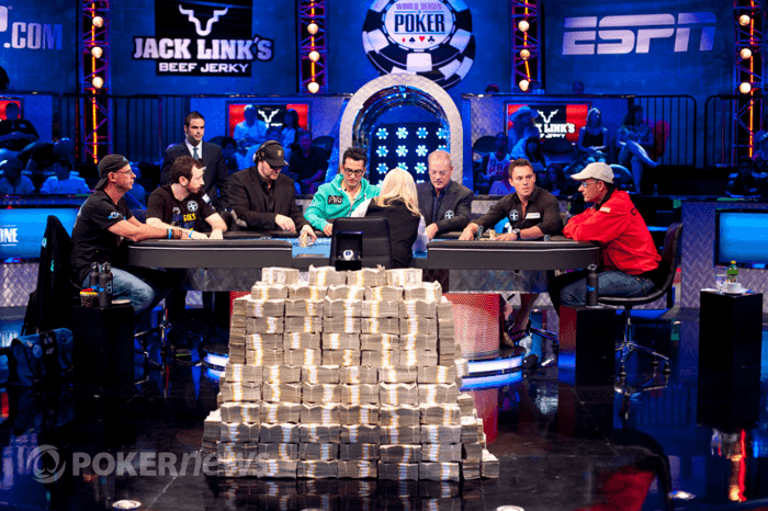 La table finale du tournoi WSOP Big One for One Drop