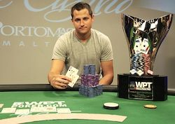 Matt Giannetti winning in Season X. Photo courtesy of WPT.