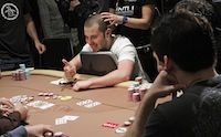 Dan Smith bubbles the final table. Picture courtesy of WPT.com.