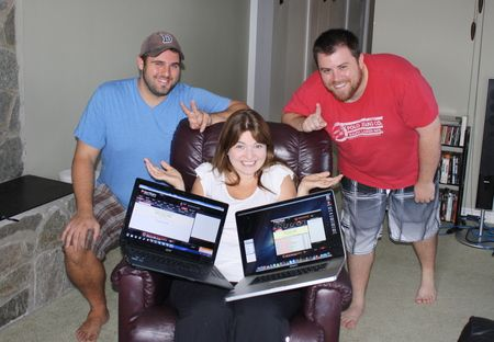 Ryan Carter, Adrienne Rowsome & Eric Crain. Picture courtesy of PokerStars Blog.