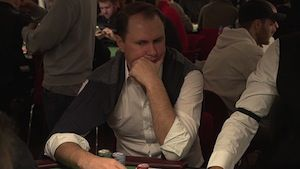 Day 1b chip leader Sergii Baranov