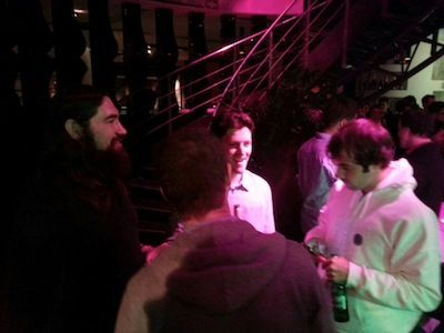 Heath Herring, Matt Waxman, Jason Mercier and Rich Ryan at the party