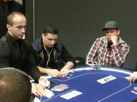 Ignat &quot;0Human0&quot; Liviu (left of dealer in black)