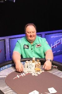 Raymer after winning HPT Route 66 Casino