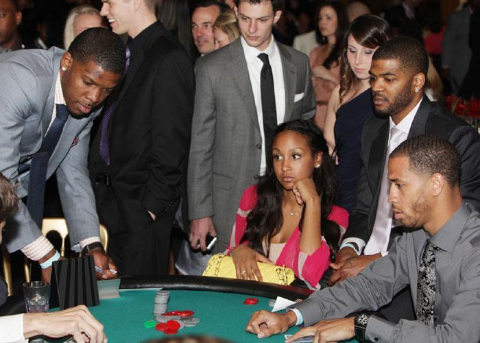 Joe Johnson, Josh Smith and others at the 2012 Atlanta Hawks Foundations Casino Night