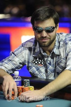 Nicholson at his WSOP final table.