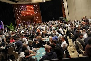 The tournament floor. Picture courtesy of WPT.