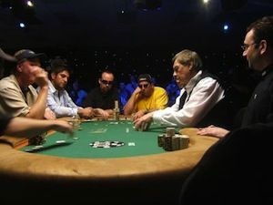 Down to two tables in the 2005 WSOP. Picture courtesy of pokervoice.com.