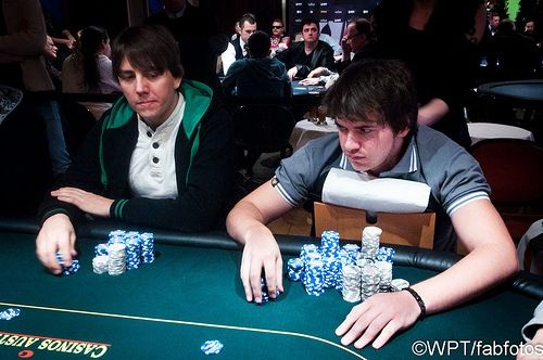 Bodo Sbrzesny and Marvin Rettenmaier (photo courtesy of the WPT blog)