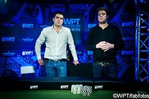 Bozinovic and Berende at the start of heads-up play.