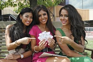 The Royal Flush Girls Ivy Teves, Tugba Ercan, and Brittany Bell.