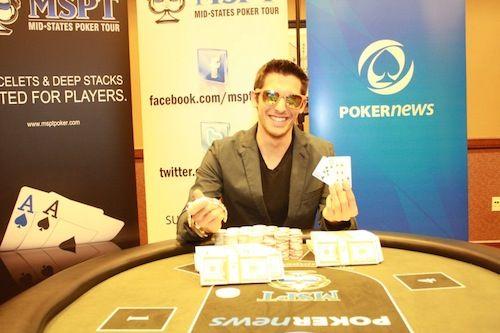 Thomas Ryan, winner of the MSPT Downstream Casino and Resort.