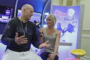 Greg Mueller with the WPT's Diana Cox.