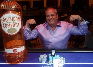 Troy Davis won Event #2 $580 NLHE. Photo courtesy of WSOP.