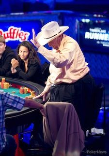 Doyle Brunson says goodbye.