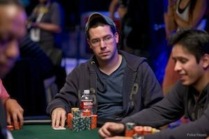 Day 4 chip leader Jon Lane
