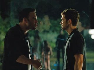 Ben Affleck and Justin Timberlake in Runner Runner.