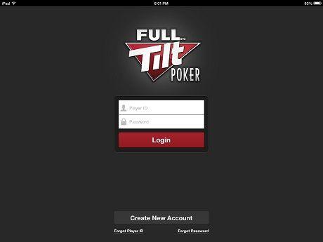 full tilt poker login screen