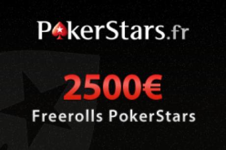 PokerStars Freerolls privés 2500€ PokerNews (9 janvier à 17h05)