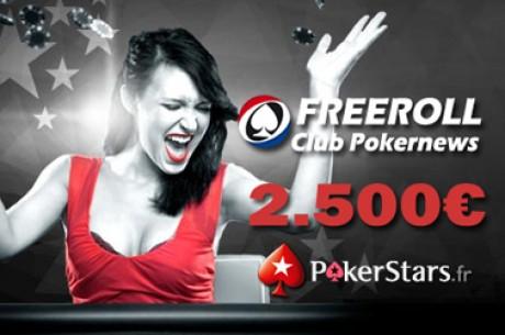 PokerStars.fr : Freerolls 2500€ exclusifs PokerNews