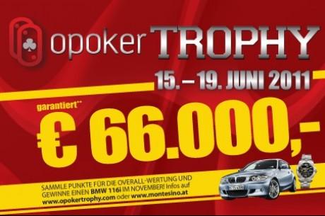 Die zweite OPoker Trophy startet heute im Montesino