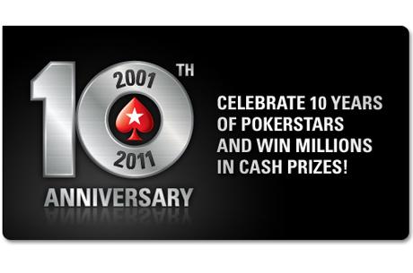 Help PokerStars bij het vieren van het 10-jarige bestaan!