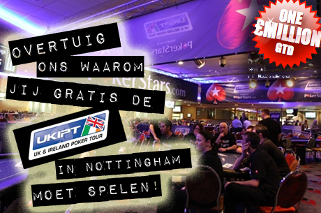Competitie: overtuig ons waarom jij volgende week gratis de UKIPT moet gaan spelen!