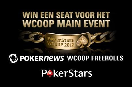 Win je $5.200 WCOOP Main Event seat via de freerolls van PokerNews en PokerStars