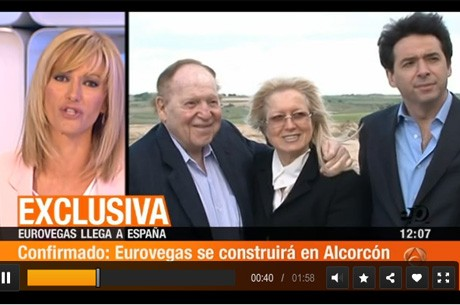 Antena3 anuncia que Eurovegas ser construida en Alcorcn